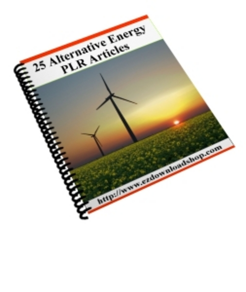 Product picture 25 Alternative Energy Plr Articles