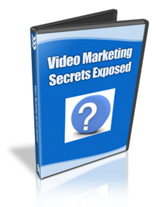 Product picture Video Marketing Secrets Exposed With Master Resell Rights