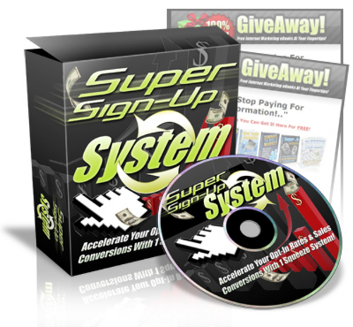 Product picture Super Sign Up System - With Master Resell Rights