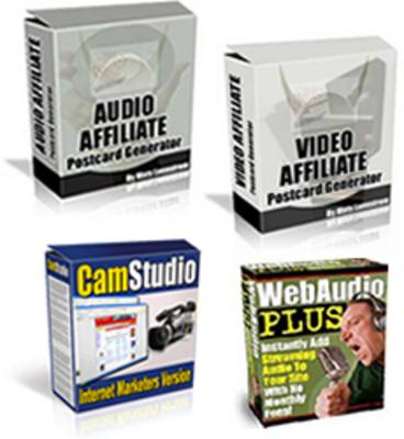 Product picture Audio/Video Postcard Generator & CamStudio & Web Audio Plus