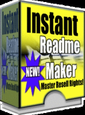 Product picture Instant Readme Maker With Master Resell Rights