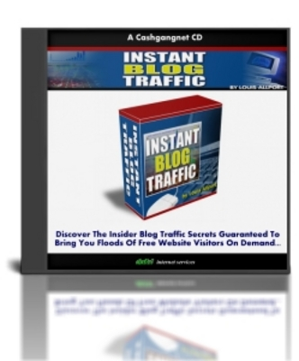 Product picture Instant Blog Traffic - With Resell Rights